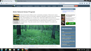 Wisconsin's State Natural Areas can be located online.