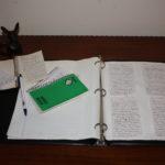 field notes on desk